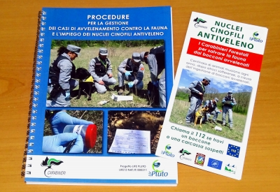A brochure on Anti-poison Dog Units and a document for the Carabinieri Forestry Corps on how to manage poisoning cases are now available